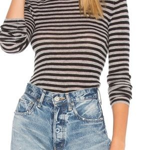 VINCE Striped Sweater Long Sleeve Soft Cozy